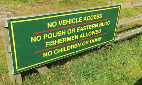 No Fishing Poles - sign