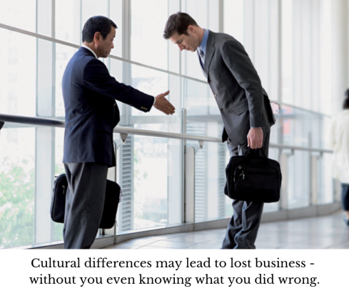 intercultural businessmen, cultural misunderstanding, cultural awareness